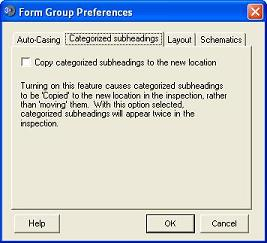 Subheading Category Preferences